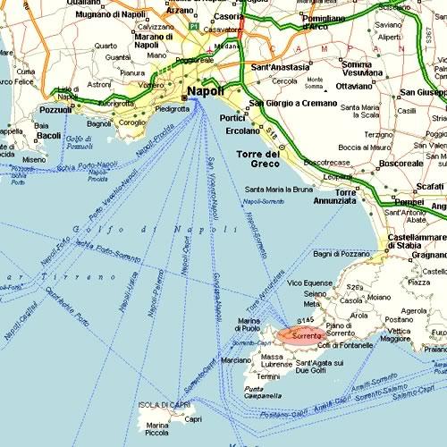 Provincia Di Napoli Cartina.Sorrento Informazioni Turistiche